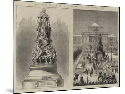 Unveiling the Statue of Catherine II at St Petersburg--Mounted Giclee Print