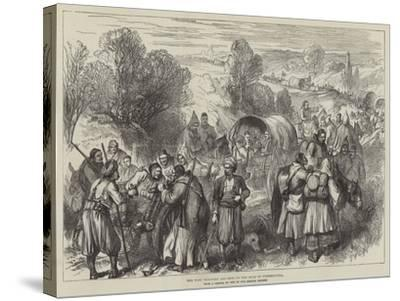 The War, Wounded and Sick on the Road to Tchernavoda--Stretched Canvas Print