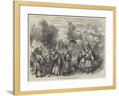 The War, Wounded and Sick on the Road to Tchernavoda--Framed Giclee Print
