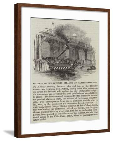 Accident to the Thunder Steamer at Battersea-Bridge--Framed Giclee Print