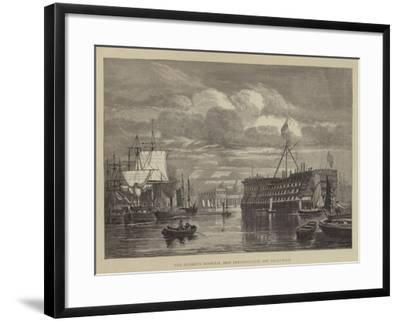 The Seamen's Hospital Ship Dreadnought, Off Greenwich--Framed Giclee Print
