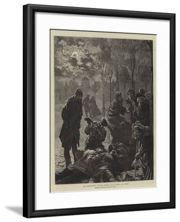 An Unwelcome Visitor, Arrival of a Shell in Paris--Framed Giclee Print