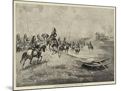 A Regiment of French Dragoons Crossing a Ford--Mounted Giclee Print