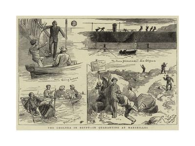The Cholera in Egypt, in Quarantine at Marseilles--Giclee Print