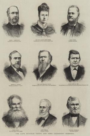 The Late Brigham Young and Some Prominent Mormons--Stretched Canvas Print