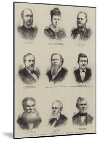 The Late Brigham Young and Some Prominent Mormons--Mounted Giclee Print