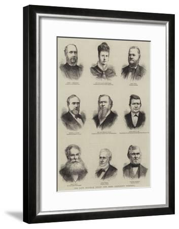 The Late Brigham Young and Some Prominent Mormons--Framed Giclee Print