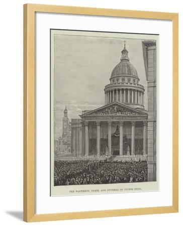 The Pantheon, Paris, and Funeral of Victor Hugo--Framed Giclee Print
