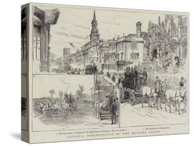 National Demonstration of Fire Brigades, Oxford--Stretched Canvas Print