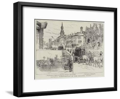 National Demonstration of Fire Brigades, Oxford--Framed Giclee Print