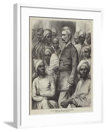 Mr H M Stanley and Some of His Native Followers--Framed Giclee Print