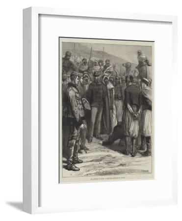 The French in Tunis, a Military Sentence of Death--Framed Giclee Print