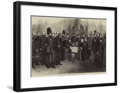 Officers of the 1st Surrey Volunteer Rifle Corps--Framed Giclee Print