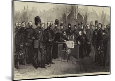Officers of the 1st Surrey Volunteer Rifle Corps--Mounted Giclee Print