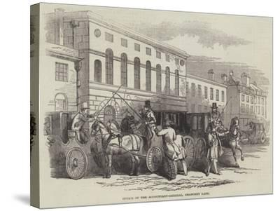 Office of the Accountant-General, Chancery Lane--Stretched Canvas Print