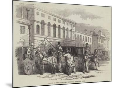 Office of the Accountant-General, Chancery Lane--Mounted Giclee Print