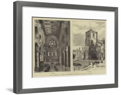 The Queen's Visit to Epping Forest, Waltham Abbey--Framed Giclee Print