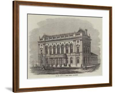 The New Townhall at Great Grimsby, Lincolnshire--Framed Giclee Print