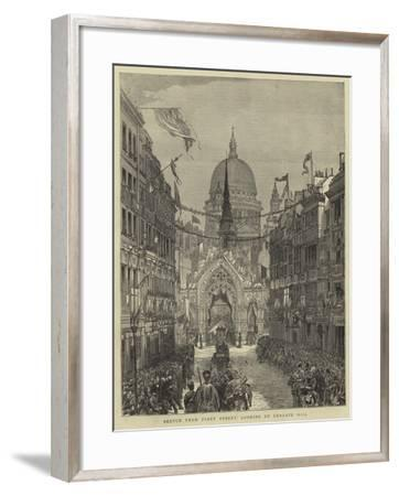 Sketch from Fleet Street, Looking Up Ludgate Hill--Framed Giclee Print
