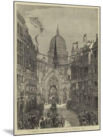 Sketch from Fleet Street, Looking Up Ludgate Hill--Mounted Giclee Print