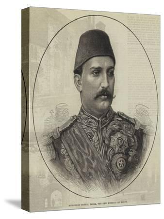 Mohammed Tewfik Pasha, the New Khedive of Egypt--Stretched Canvas Print