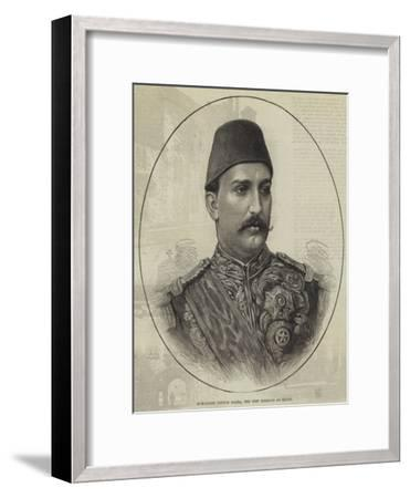 Mohammed Tewfik Pasha, the New Khedive of Egypt--Framed Giclee Print