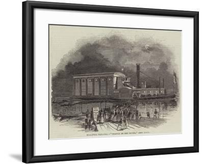 Floating Theatre, Temple of the Muses, New York--Framed Giclee Print