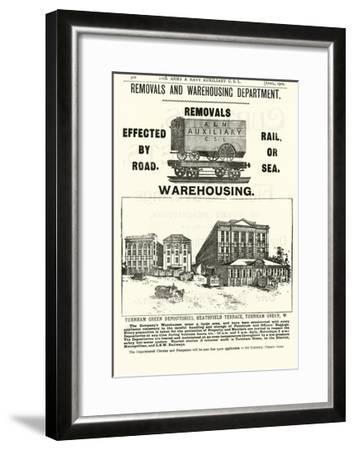 Page from the Army and Navy Catalogue, April 1902--Framed Giclee Print