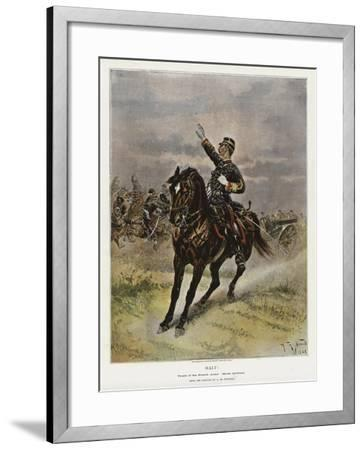 Halt!, Types of the French Army, Horse Artillery--Framed Giclee Print