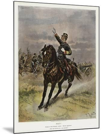 Halt!, Types of the French Army, Horse Artillery--Mounted Giclee Print