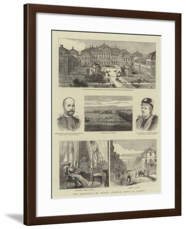 The Betrothal of Prince Leopold, Duke of Albany--Framed Giclee Print
