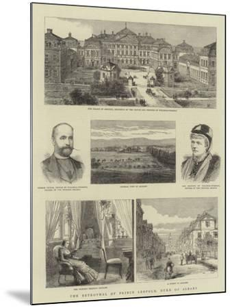 The Betrothal of Prince Leopold, Duke of Albany--Mounted Giclee Print