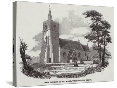 New Church of St Mary, Thundridge, Hertfordshire--Stretched Canvas Print