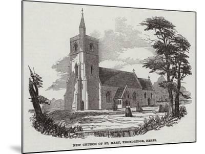 New Church of St Mary, Thundridge, Hertfordshire--Mounted Giclee Print