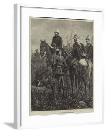 A Zulu Guide Listening for Sounds of the Enemy--Framed Giclee Print