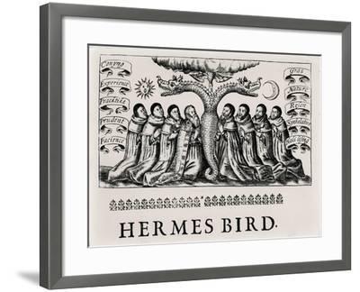 The Hermes Bird, from 'Theatrum Chemicum', 1652--Framed Giclee Print
