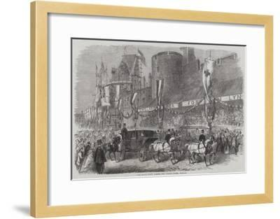 The Royal Party Passing the Curfew Tower, Windsor--Framed Giclee Print