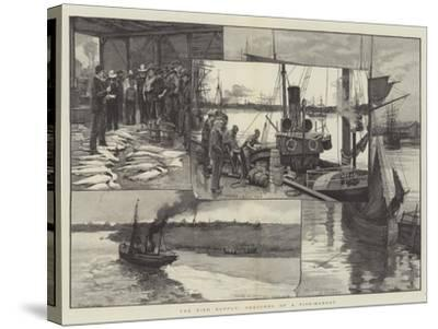 The Fish Supply, Sketches of a Fish-Market--Stretched Canvas Print