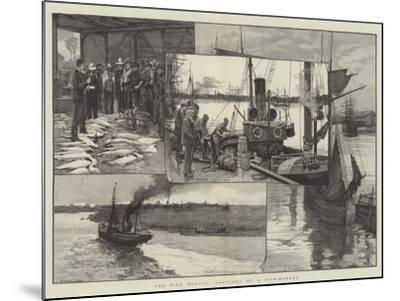 The Fish Supply, Sketches of a Fish-Market--Mounted Giclee Print