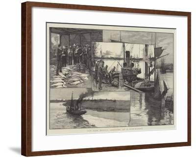 The Fish Supply, Sketches of a Fish-Market--Framed Giclee Print