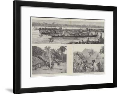 Mr H M Stanley's Emin Pasha Relief Expedition--Framed Giclee Print
