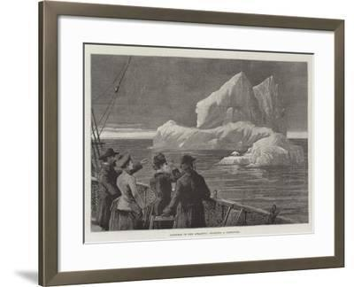 Icebergs in the Atlantic, Sighting a Castaway--Framed Giclee Print