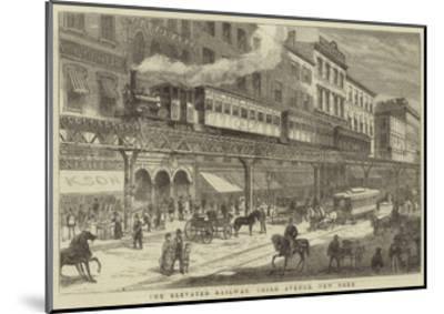 The Elevated Railway, Third Avenue, New York--Mounted Giclee Print
