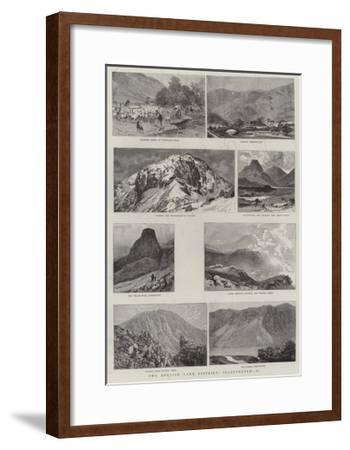 The English Lake District, Illustrated, II--Framed Giclee Print