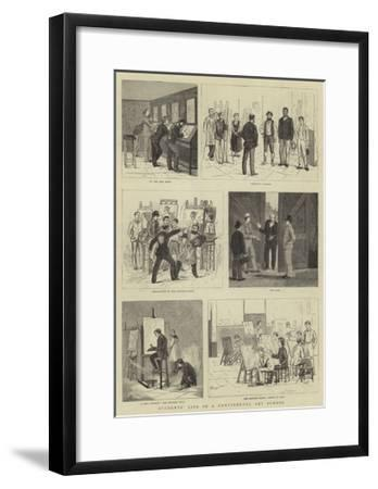 Students' Life in a Continental Art School--Framed Giclee Print