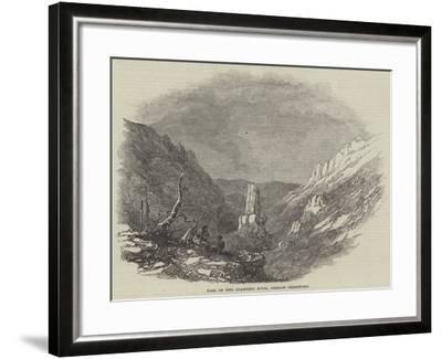 Pass of the Standing Rock, Oregon Territory--Framed Giclee Print