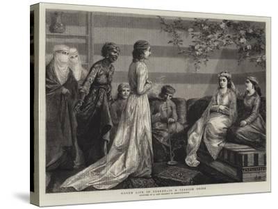 Harem Life in Turkey, II, a Turkish Bride--Stretched Canvas Print