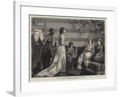 Harem Life in Turkey, II, a Turkish Bride--Framed Giclee Print