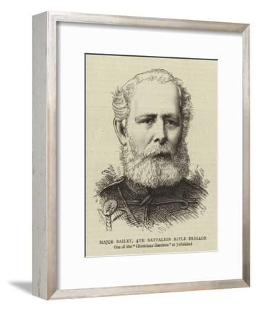 Major Bailey, 4th Battalion Rifle Brigade--Framed Giclee Print