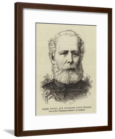Major Bailey, 4th Battalion Rifle Brigade--Framed Giclee Print
